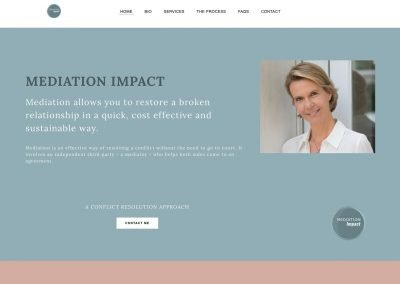 www.meditionImpact.org website home